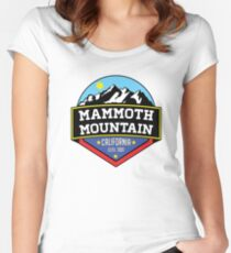MAMMOTH MOUNTAIN CALIFORNIA SKIING SKI SNOWBOARDING HIKING CLIMBING 5  Women s Fitted Scoop T-Shirt 0635a54b98