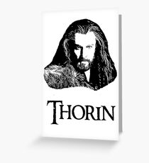 Thorin Oakenshield Portrait Greeting Card