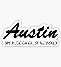 Austin live music (black) Sticker