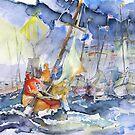 Safe And Sound Back At The Port  by Barbara Pommerenke