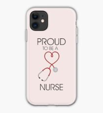 Proud to be a nurse iPhone Case