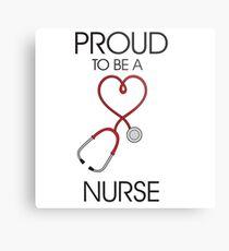 Proud to be a nurse Metal Print
