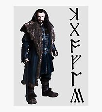 Thorin in Runes Photographic Print