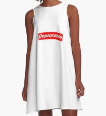 red deplorable A-Line Dress
