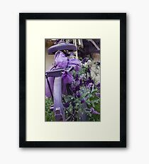 bicycle with lavender Framed Print