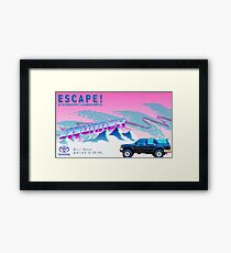 Vaporwave 4Runner Advertisement Framed Print