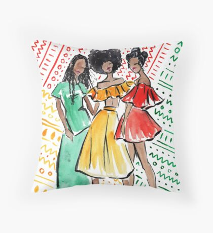 Coils in Color Throw Pillow