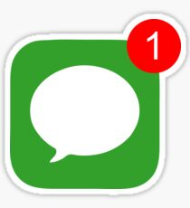 1 Unread Message (Phone Icon) Sticker