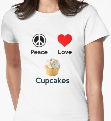 Peace Love & Cupcakes (Clothing & Stickers ) T-Shirt