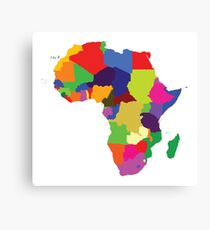 Africa (Continent) Canvas Print