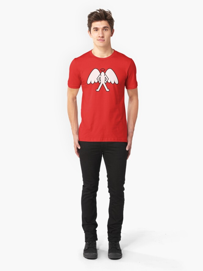 Vista alternativa de Camiseta ajustada Ángel Vigilante