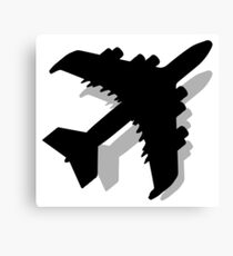 Flying Airplane Silhouette Canvas Print