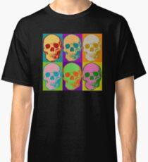 Skull Pop Art Retro Graphic Skulls Bright Color Design Classic T-Shirt