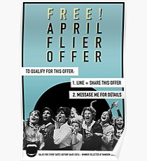 April Free Flier Offer  Poster