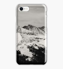 Black and white mountain iPhone Case/Skin