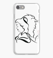 Beauty and the beast  logo iPhone Case/Skin