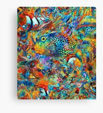 Tropical Beach Art - Under The Sea - Sharon Cummings Canvas Print