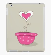 Wonderful love hat. Vector Illustration of love flower growing from hat. iPad Case/Skin