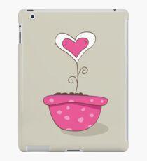 Wonderful love hat. Vector Illustration of love flower growing from hat. iPad Case/Skin