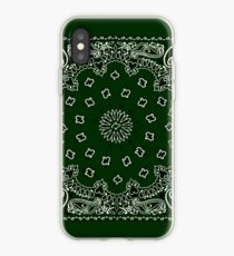 Hunter Green Hanky,Handkerchief iPhone Case