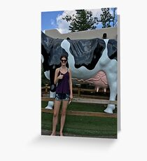 Awkwardness with a Cow Utter Greeting Card
