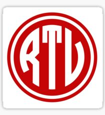 RTV monogram Sticker
