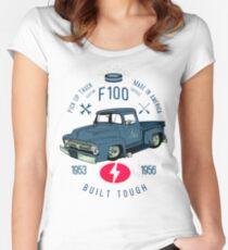 Camiseta entallada de cuello redondo Ford F100 de camiones robustos y resistentes