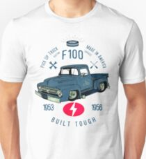 Ford F100 Truck Built Tough Slim Fit T-Shirt