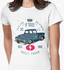 Ford F100 Truck Built Tough Women's Fitted T-Shirt