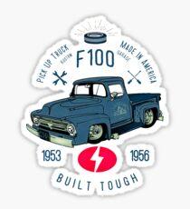 Ford F100 Truck Built Tough Glänzender Sticker
