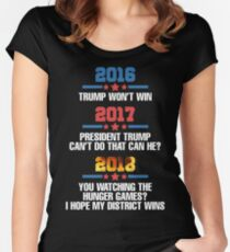 Trump Wont Win Will He? Hope my district wins Women's Fitted Scoop T-Shirt