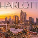 charlotte skyline by ALEX GRICHENKO