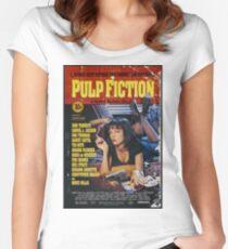 Pulp Fiction Uma Thurman Poster Women's Fitted Scoop T-Shirt