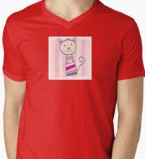 Pink kitten. Stripped small cute baby kitten T-Shirt
