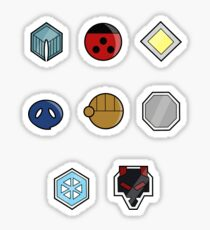 Pokemon - Johto League: Johto Region Badges Sticker