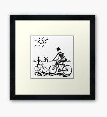 Picasso Bicycle - Biking Sketch Framed Print
