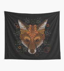 Fox Face Wall Tapestry