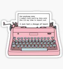 Pegatina Máquina de escribir - Un cambio de corazón