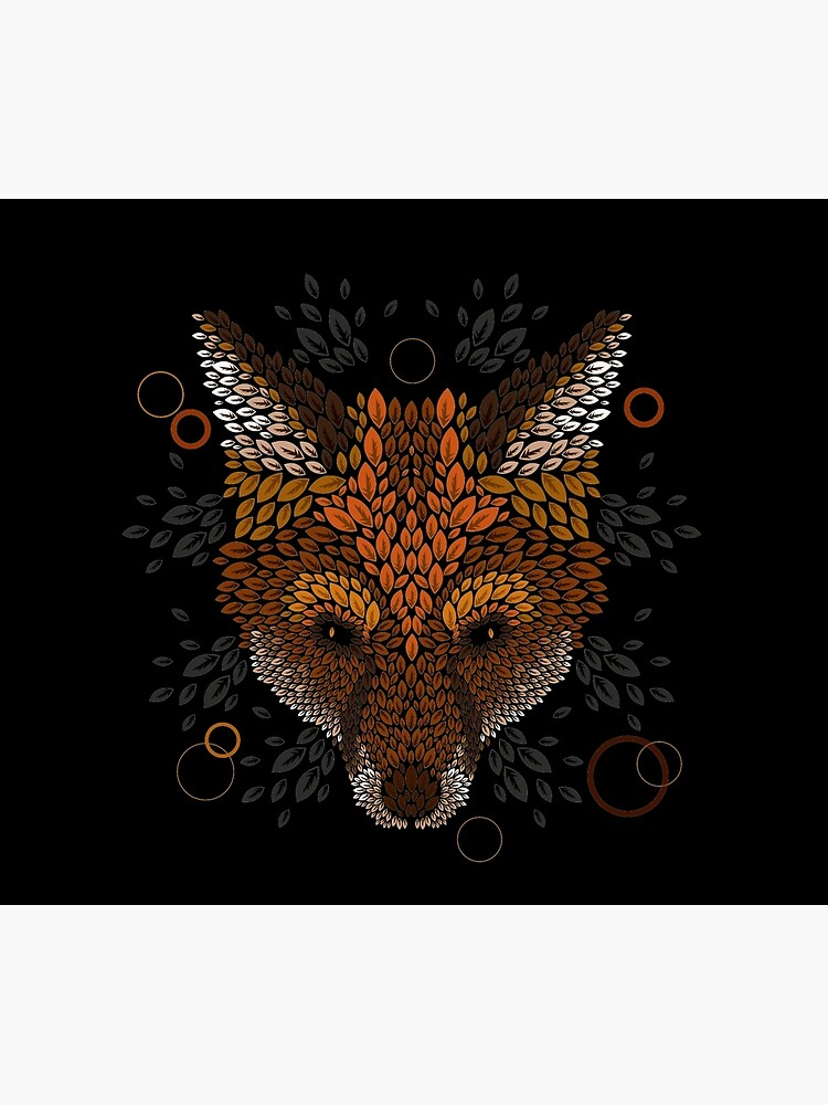 Fuchs Gesicht von Letter-Q