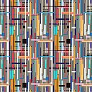 Graphic pattern of geometric stripes by Tanor