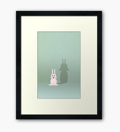 Bunny of the Dark Side VRS2 Framed Print