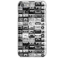black and white tape illustration  iPhone Case/Skin