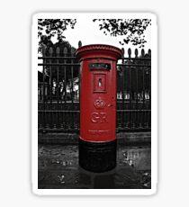 Red London Pillar Box Sticker