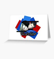 Two Of A Kind - ONJ & John Travolta Greeting Card