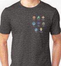 Pokemon - Sinnoh League: Sinnoh Region Badges T-Shirt