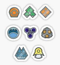 Pokemon - Sinnoh League: Sinnoh Region Badges Sticker