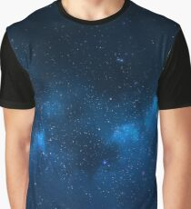 Blue Space Graphic T-Shirt