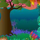 baobab tree scene by kathrynkonkle