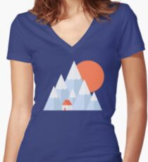 Snow Valley Women's Fitted V-Neck T-Shirt