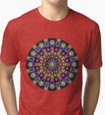 COLORFUL PSYCHEDELIC MANDALA Tri-blend T-Shirt